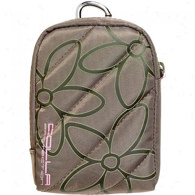 Golla Hula Compact Digital Camera Or Handheld Camcorder Bag, Beige