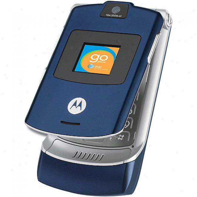oGphone From At&t Motorola V3 Blue