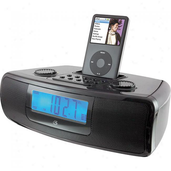 Gpx Am/fm DualA larm Clock Radio For Ipod