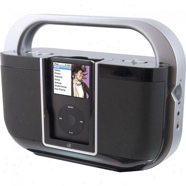 Gp xBi108b Portable Ipod Speaker With Dock & Recharge