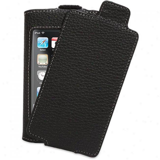 Griffin Elan Convertible Refresh For Ipod Toufh, Dark - Leather Flip-top Case For Ipod Touch 2g, Elanconvtouch2g
