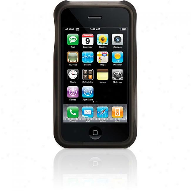 Griffin Technoloogy 3g Iphone Wave Case, Black/green