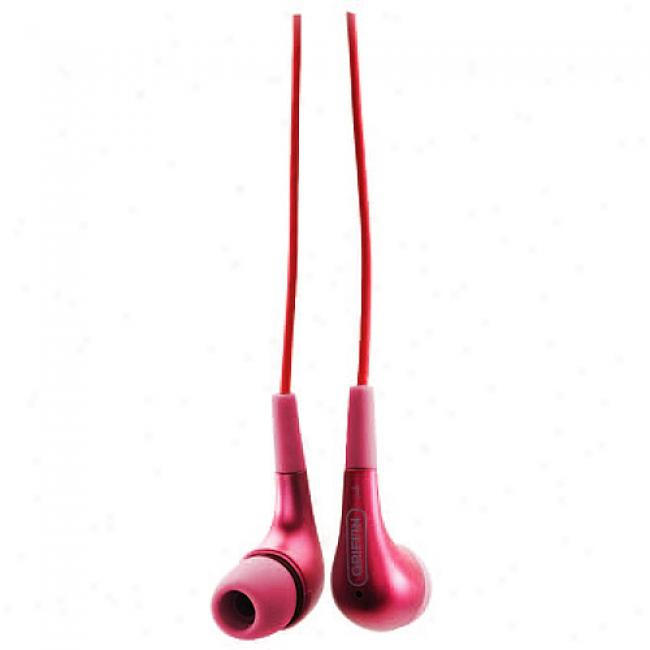 Griffin Tunebuds Comfort Headphones, Red
