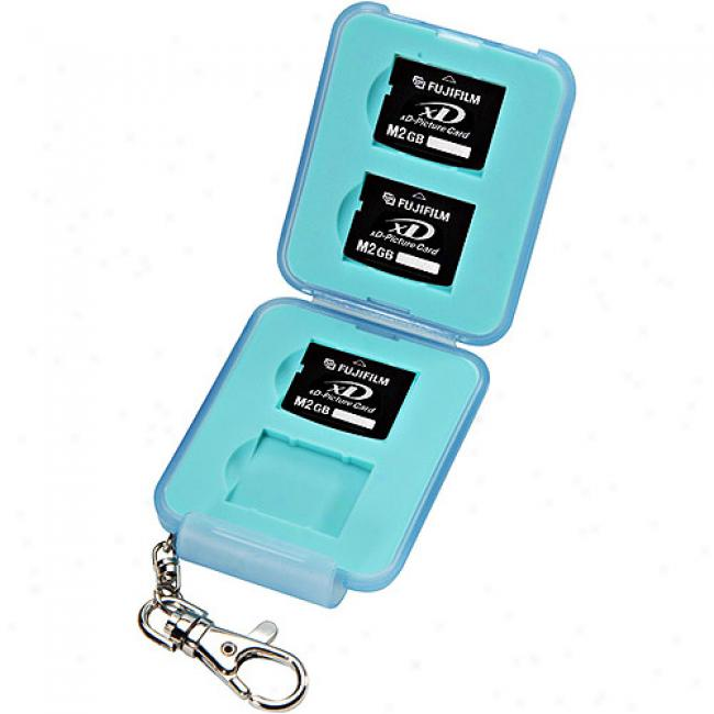 Hakuba Plastic Digital Memory Case For 4 Xd Memory Cards