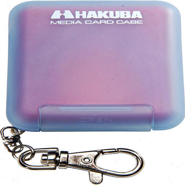 Hakuba Soft Digital Memory Case For 4 Memorystick Memory Cards