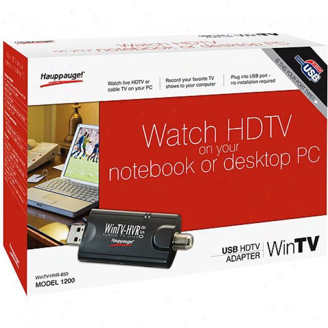 Hauppauge Wintv Hvr-850 Usb Notebook Or Desktop Tv Tunef