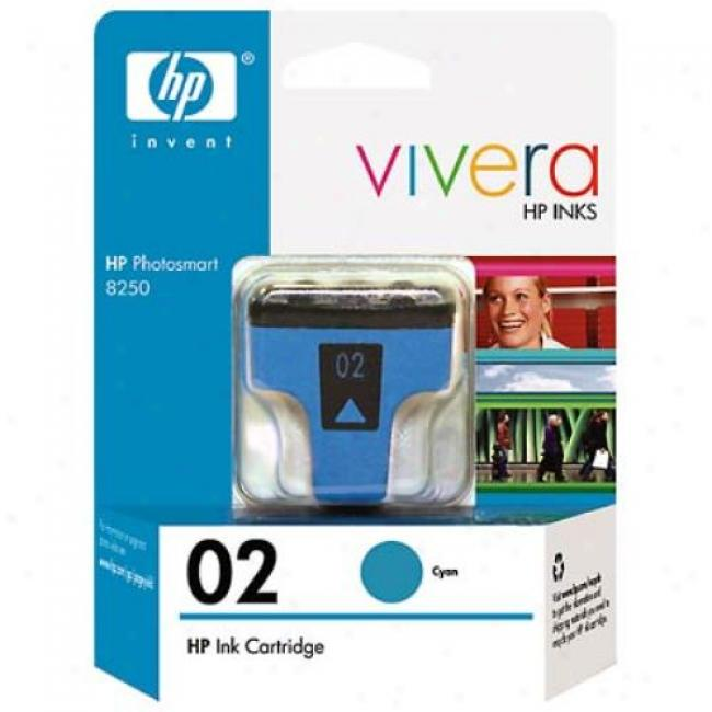 Hp 02 C8771wm Cyan Ink Print Cartridge
