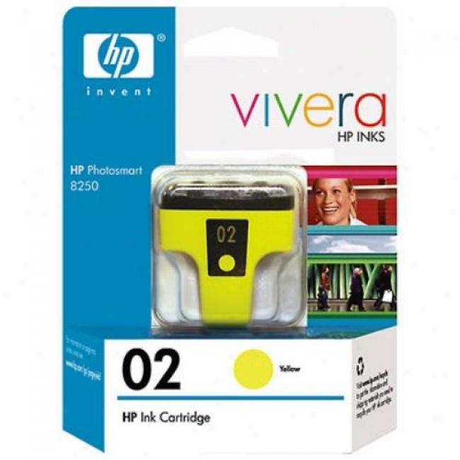 Hp 02 C8773wn Yellow Ink Print Cartridge