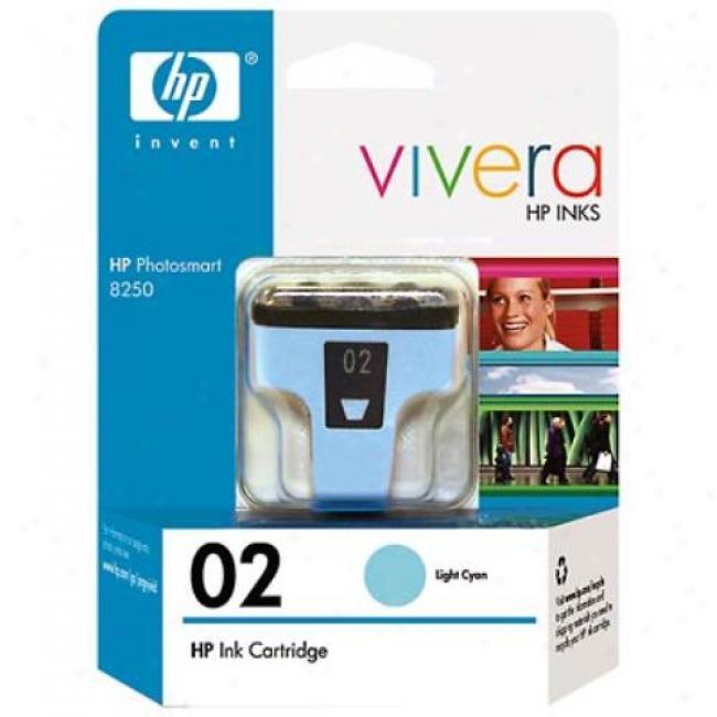 Hp 02 C8774wn Light Cyan Ink Print Cartridge