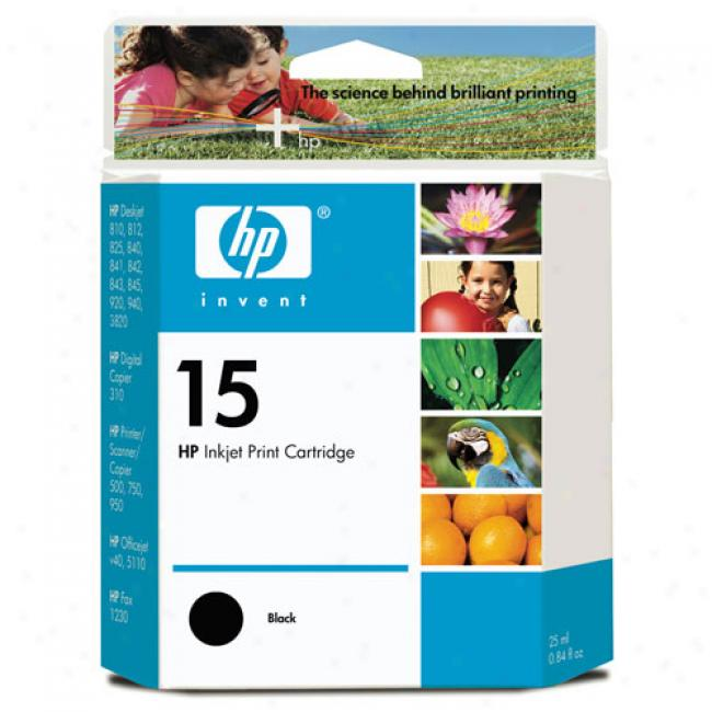 Hp 15 Black Innkjet Print Cartridge