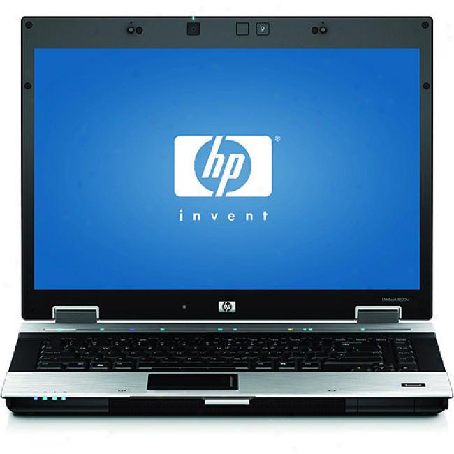 Hp 15.4'' Elitebook 8530w Laptop Pc W/ Intel Core 2 Duo Processor P8600