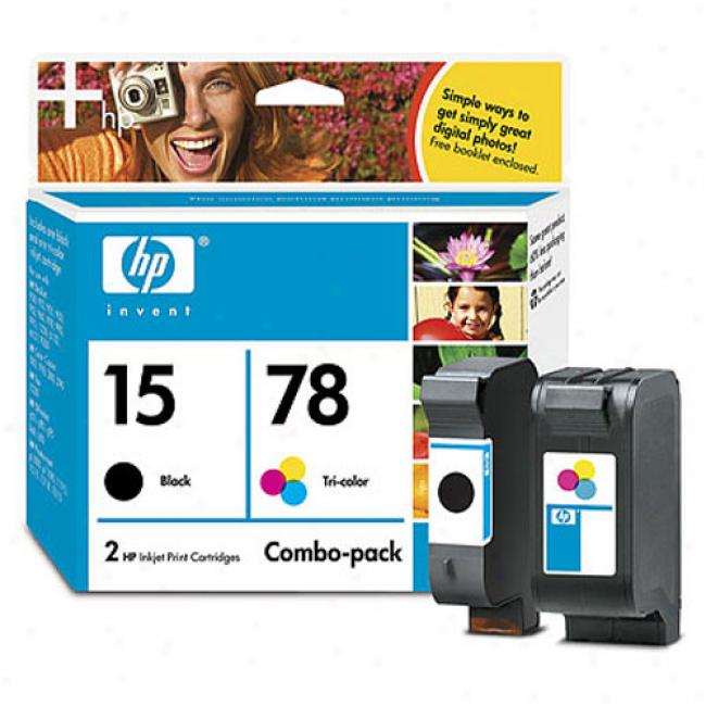 Hp 15/78d Inkjet Print Cartridge Combo Pack With Paper Bundle