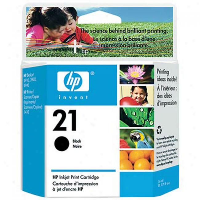 Hp 21 Black Inkjet Print Cartridge, C9351an