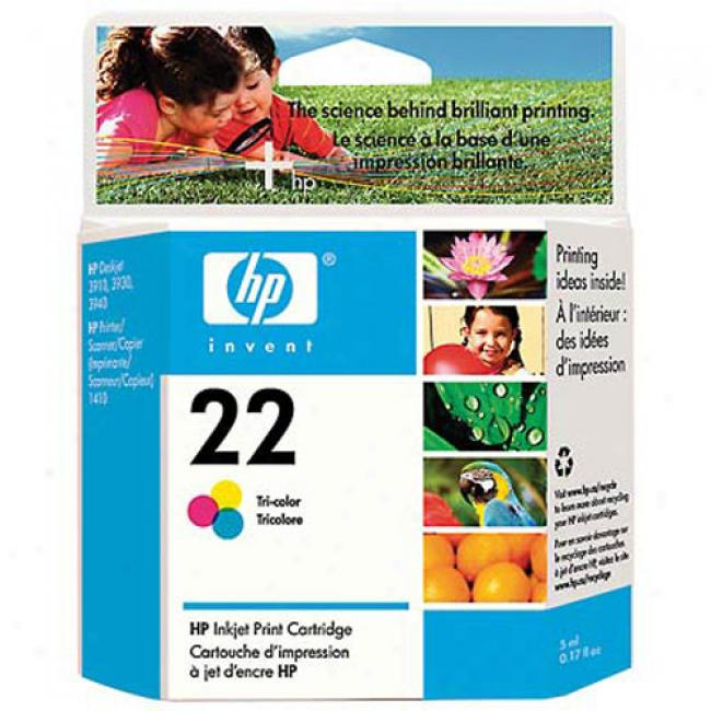 Hp 22 Tri-color Inkjet Print Cartridge, C9352an