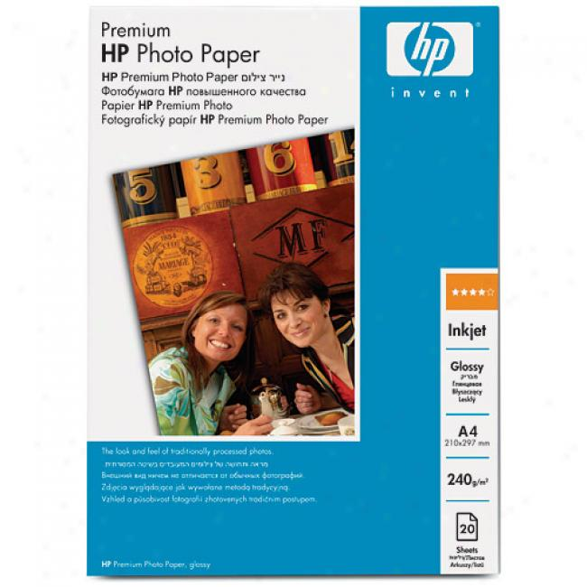 Hp C679a Premium Photo Paper, Glossy (50 Sheets, 8.5 X 11