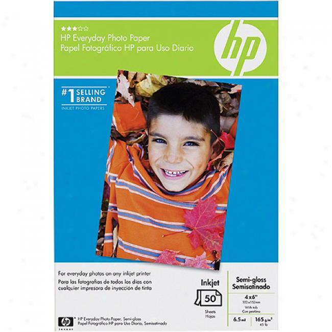 Hp Everyday Seki-gloss Photo Paper, 50 Sheet/4