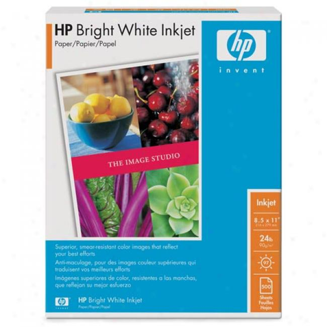 Hp Hpb1124 Bright White Inkjet Paper-500 Sht/8.5 X 11 In