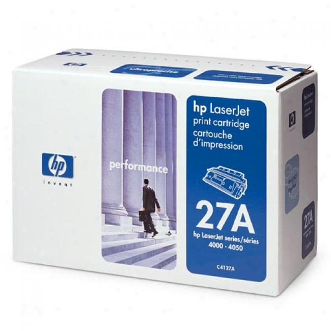 Hp Laserjet C4127a Ultraprecise Print Cartridge, Black