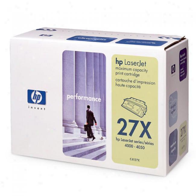 Hp Laserjet C4127x Ultraprecise Stamp Cartridge, Black
