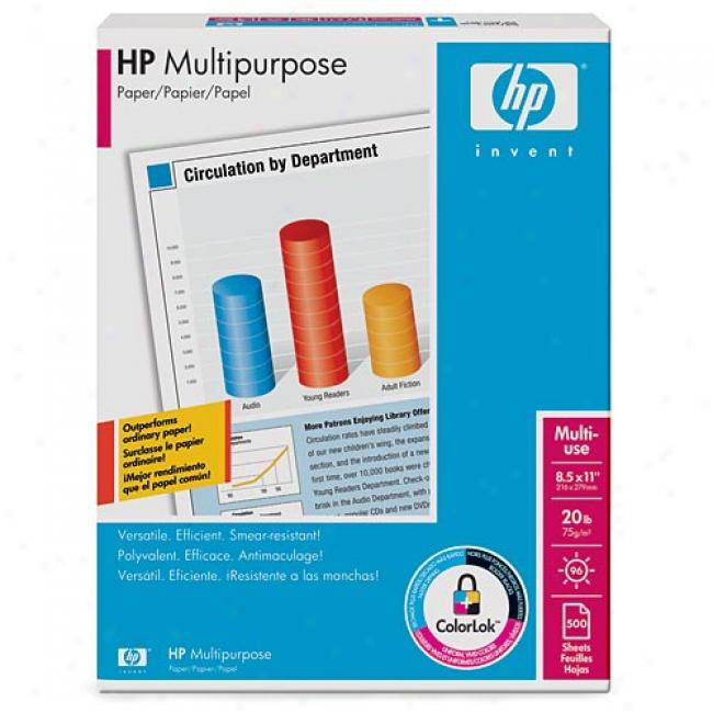 Hp Multipurpose Paper, 8.5 X 11