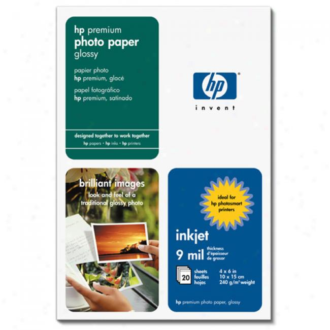 Hp Q1990a Premi8m Photo Paper, Glossy (100 Sheets, 4 X 6