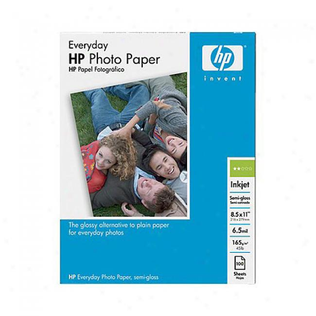 Hp Q2509a Everyday Photo Pape, Semi-gloss (100 Sheets, 8.5 X 11