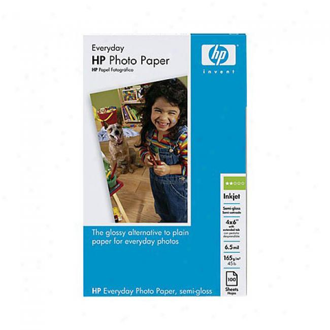 Hp Q5440a Everyday Photo Paper,_Semi-gloss (100 Sheets, 4