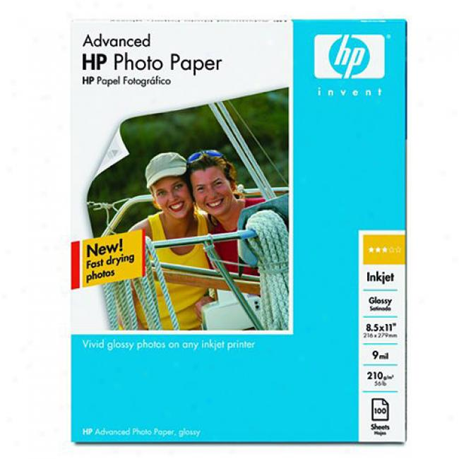 Hp Q7852a Advanced Photo Paper, Glossy (25 Shets, 8.5 X 11