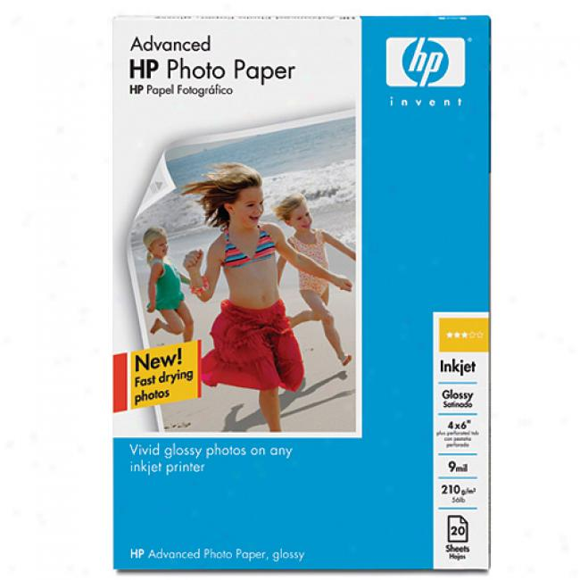 Hp Q7906a Advanced Photo Paper, Glossy (100 Sheets, 4 X 6