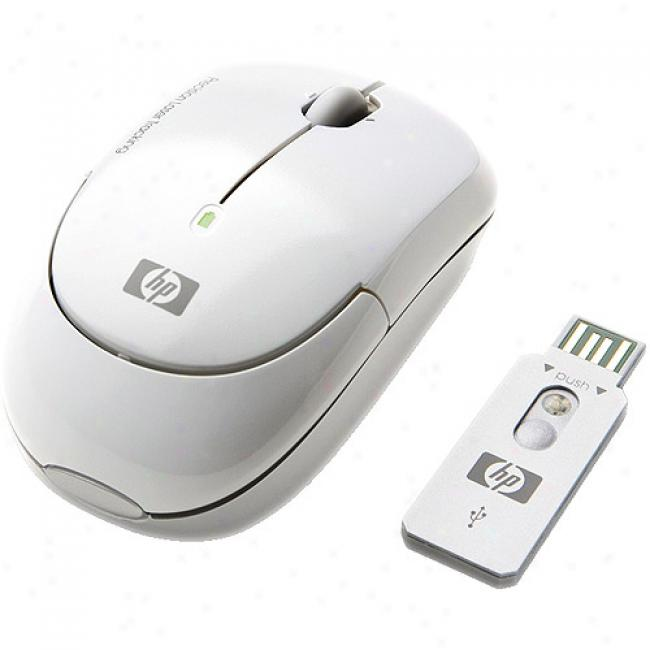 Hp White Wireless Usb Laser Mini M0use