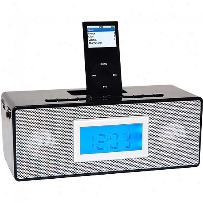 Iconcept Isnooze Am/fm Clock Radio, Black