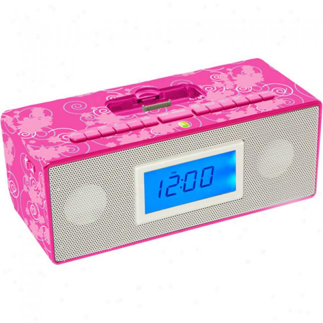 Iconcept Isnooze Am/fm Clock Radio, Pink
