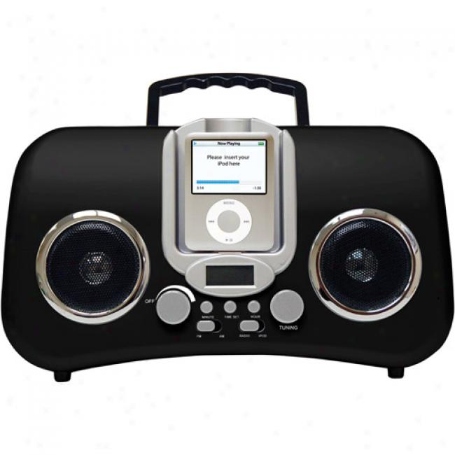 Iconcepts Am/fm Boom Box For Ipod, Black