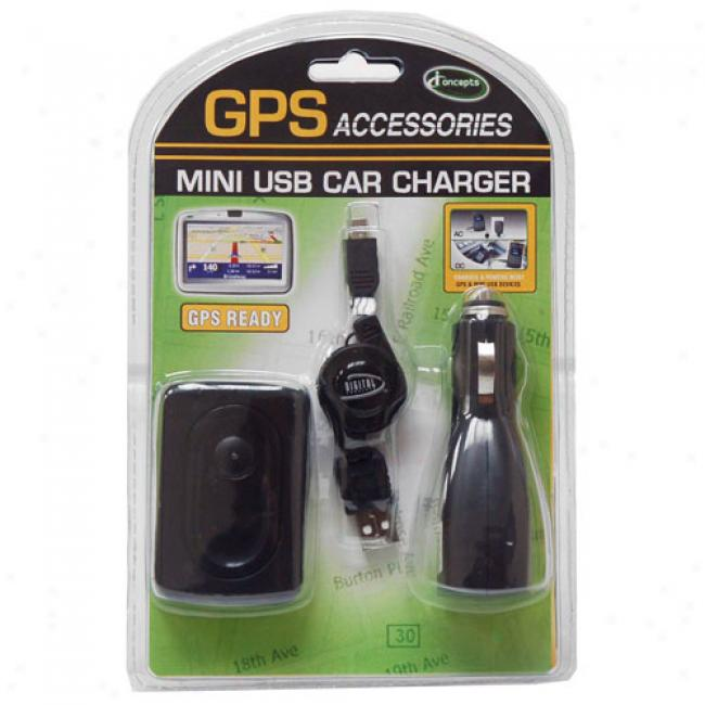 Iconcepts Mini Usb Ac/dc Chqrger Kit For Gps