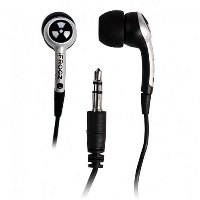 Ifrogz Ear Pollution Plugz Earbuds, Silver