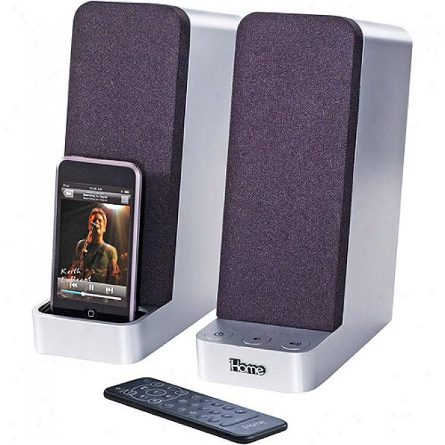 Ihome 15-watt Computer Speakers Wit hIpod Dock, Ih70src