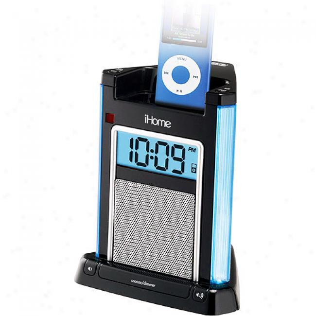 Ihome Alarm Clock Foe Ipod, Ih4b Black