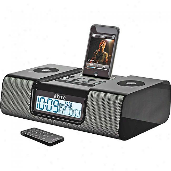 Ihome Clock Radio For Ipod, Ih9b6