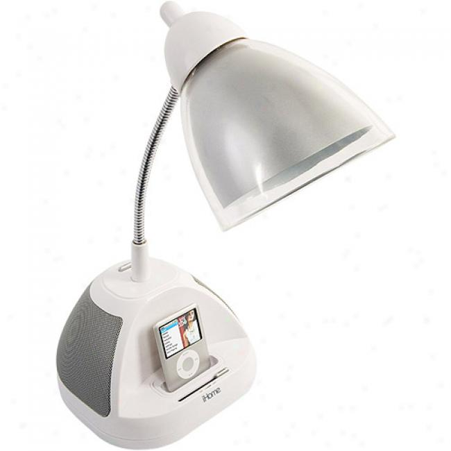 Ihome Colortunes Speaker/lamp For Ipod, Silver