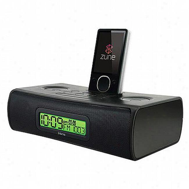 Ihome Dual Alarm Clock For Your Zune With Remote Control & Am/fm Presets