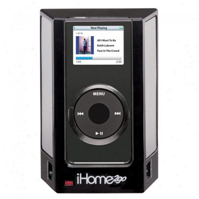 Ihome Portable Stereo Speaker System For Ipod Nano