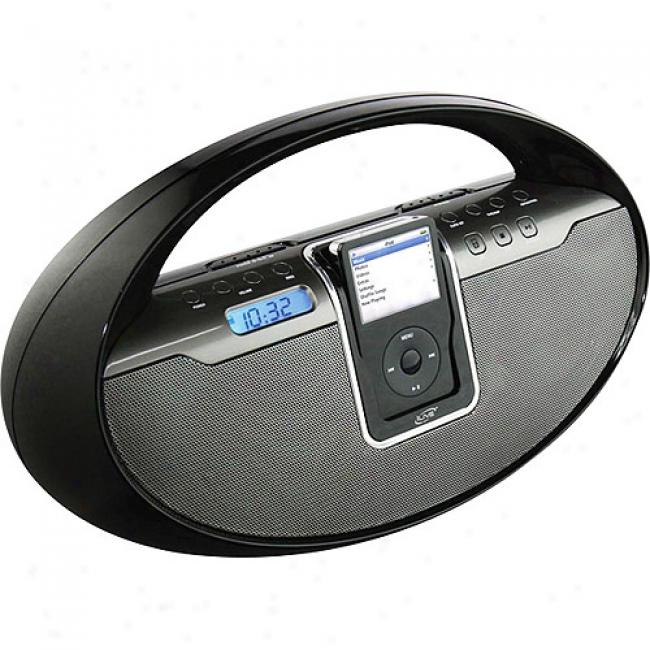 Ilive Am/fm/cd Ipod Boom Box, Black