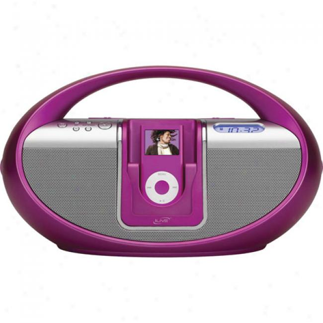 Ilive Ipod Boom Box, Pinl