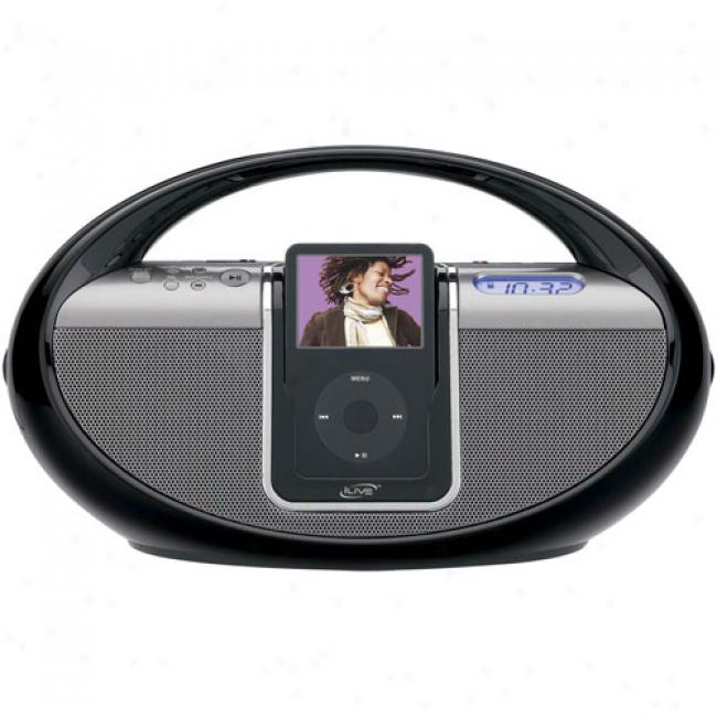 Ilive Ipod Boombox, Black