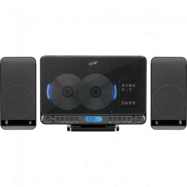 Ilive Mirco Stereo System W/ Cd Player & Ipod Dock