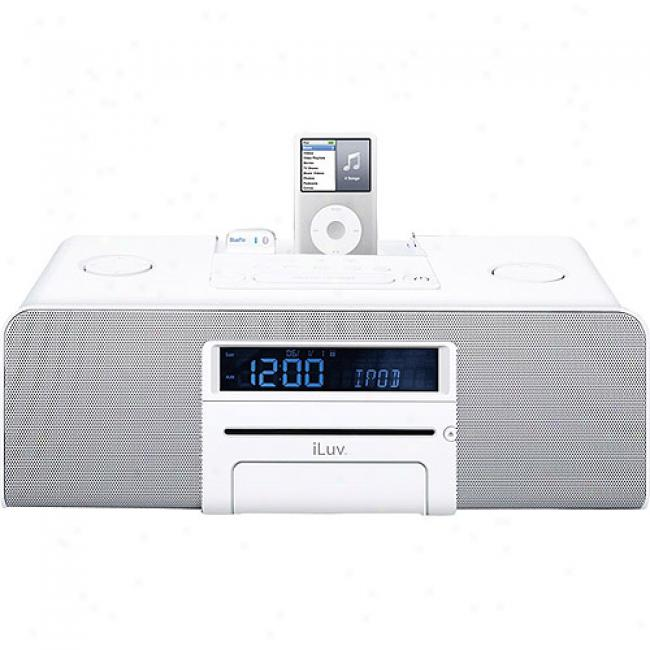 Iluv Bluepin Hi-fi Multimedia Order With Cd Player For Ipod - White