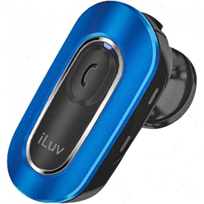 Iluv - Bluetooth Micro Hands-free Headset, Blue