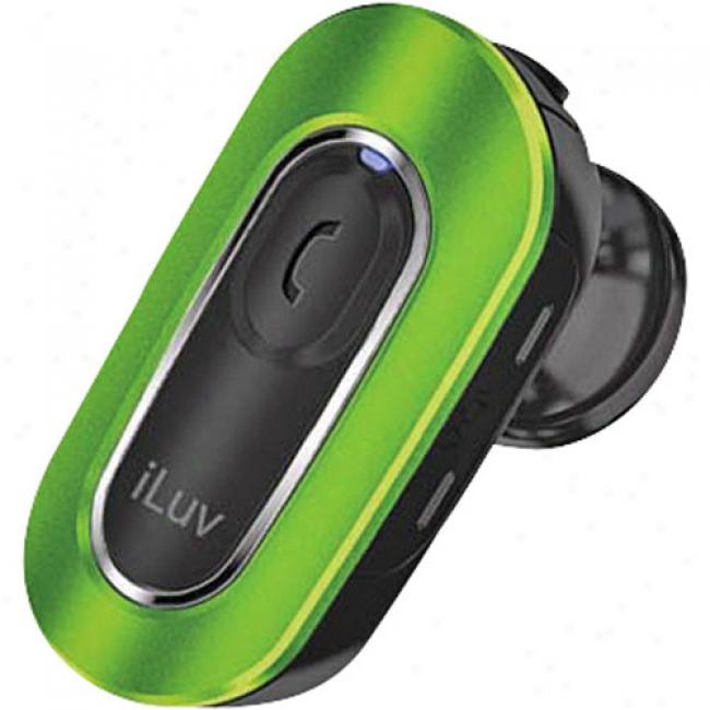 Iluv - Bluetooth Micro Hands-free Headset, Green