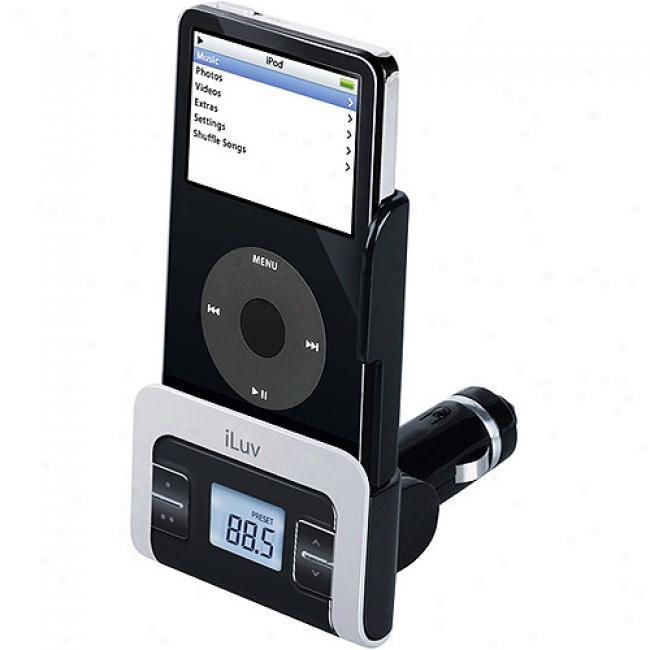 Iluv Fm Transmitter With Car Adapter For Ipod, Black