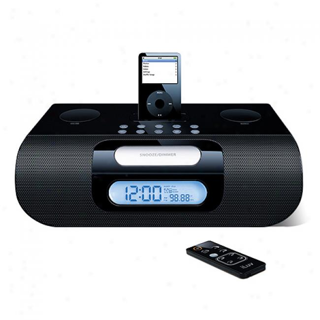 Iluv Ipod Alarm Clock Radio In the opinion of Dual Alarm, Black
